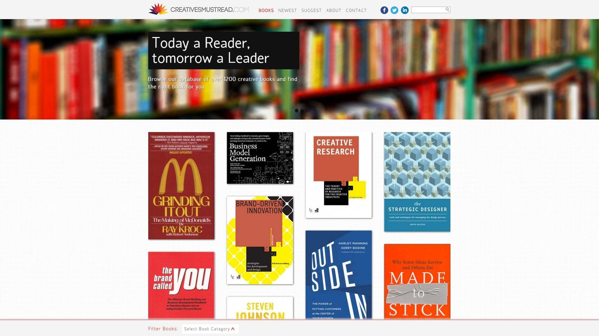 Creatives Must Read designed and developed by Michiel Tramper