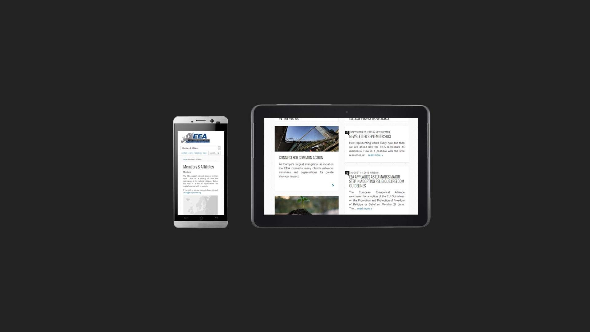 EEA Responsive website as designed and developed by Michiel Tramper