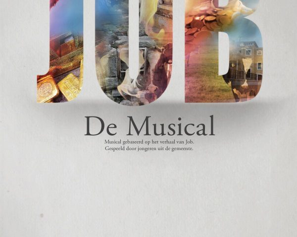 Job the Musical poster design by Michiel Tramper