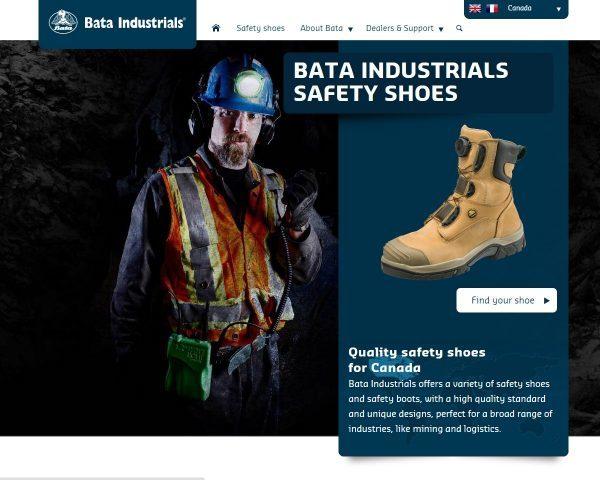 Bata Industrials Safety Shoes Website