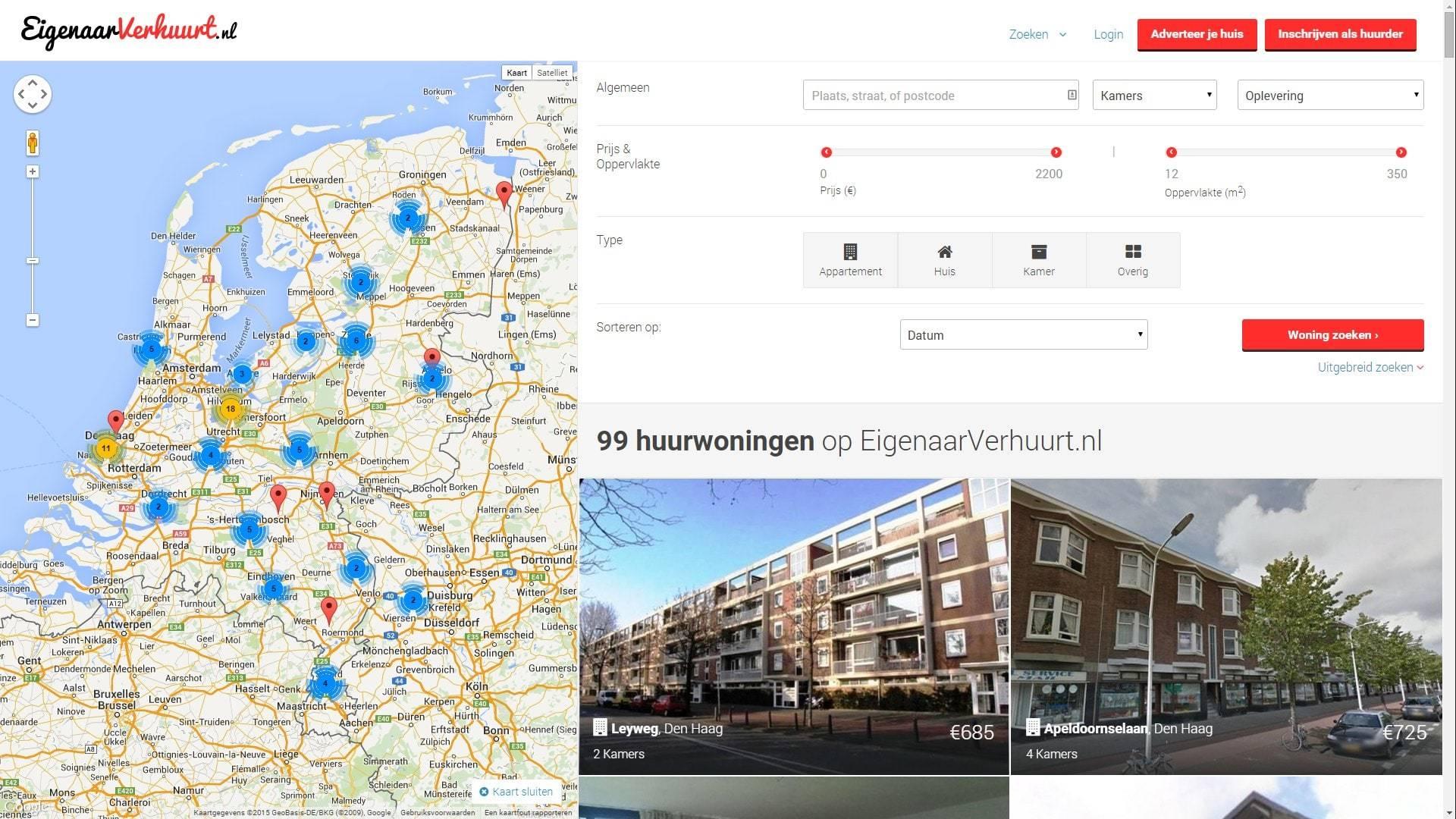 EigenaarVerhuurt.nl Search Filter for Homes