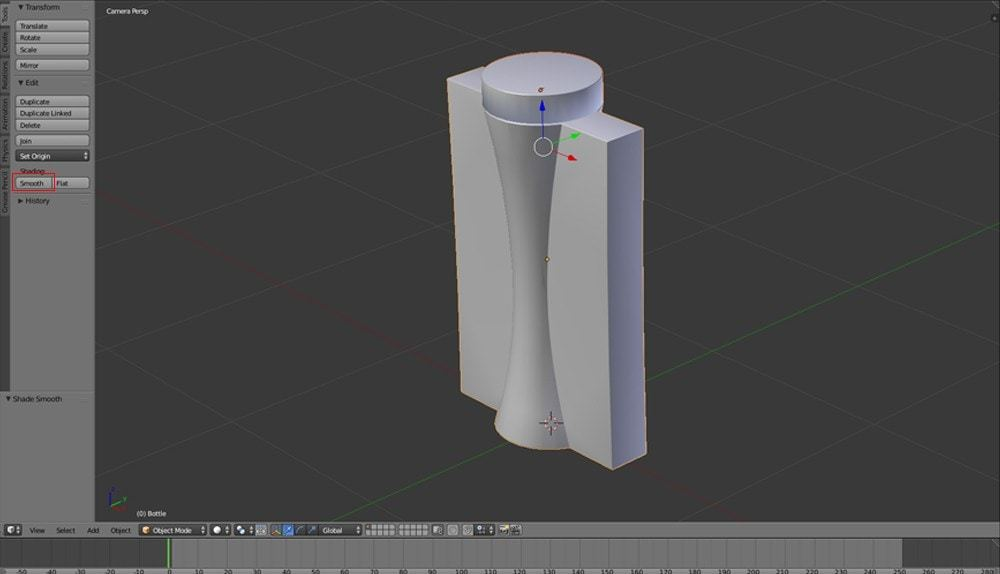 Perfume Bottle Cap from Solidworks to Blender