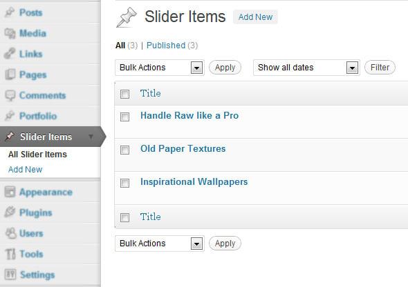 Wordpress Slider with custom Post Types